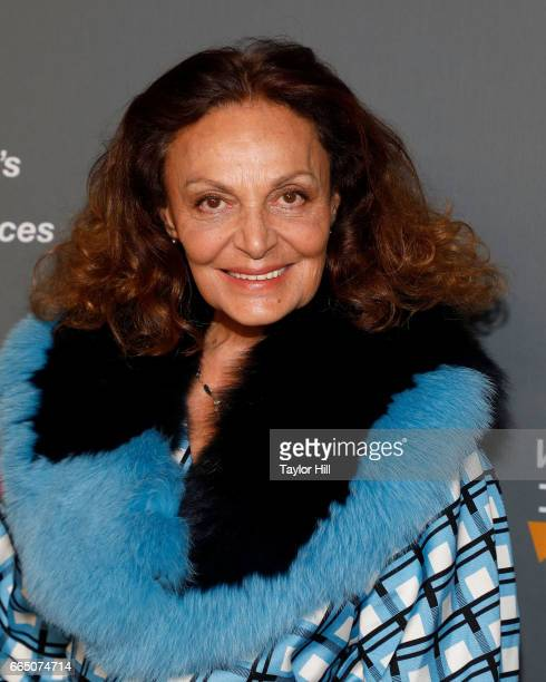 Diane von Furstenburg attends Tina Brown's 8th Annual Women in the World summit at Lincoln Center for the Performing Arts on April 5 2017 in New York...
