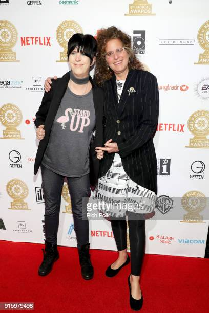 Diane Warren and Bonnie Greenberg attend the 8th Annual Guild of Music Supervisors Awards at The Theatre at Ace Hotel on February 8 2018 in Los...
