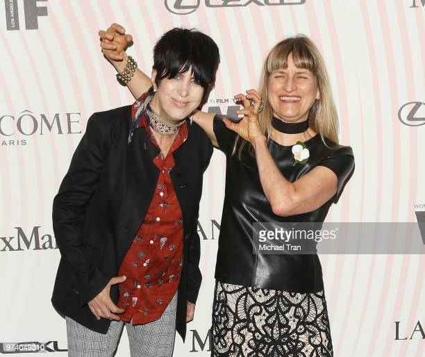 Diane Warren and Catherine Hardwickes attend the Women In Film 2018 Crystal Lucy Awards held at The Beverly Hilton Hotel on June 13 2018 in Beverly...