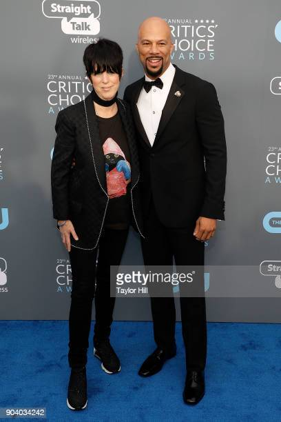 Diane Warren and Common attend the 23rd Annual Critics' Choice Awards at Barker Hangar on January 11 2018 in Santa Monica California
