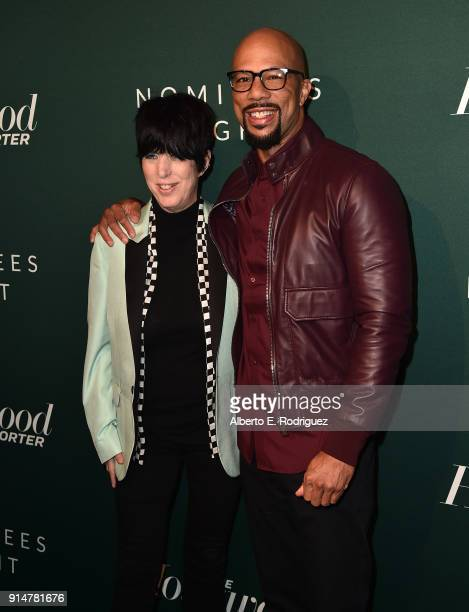 Diane Warren and Common attend the Hollywood Reporter's 6th Annual Nominees Night at CUT on February 5 2018 in Beverly Hills California