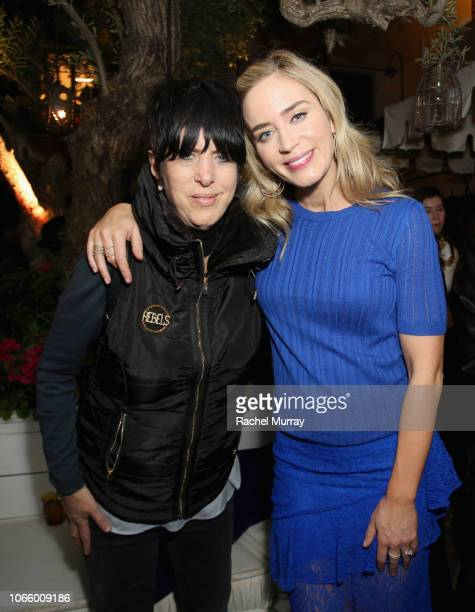 Diane Warren and Emily Blunt attend a special screening of 'A Quiet Place' at The Hearth and Hound on November 27 2018 in Los Angeles California