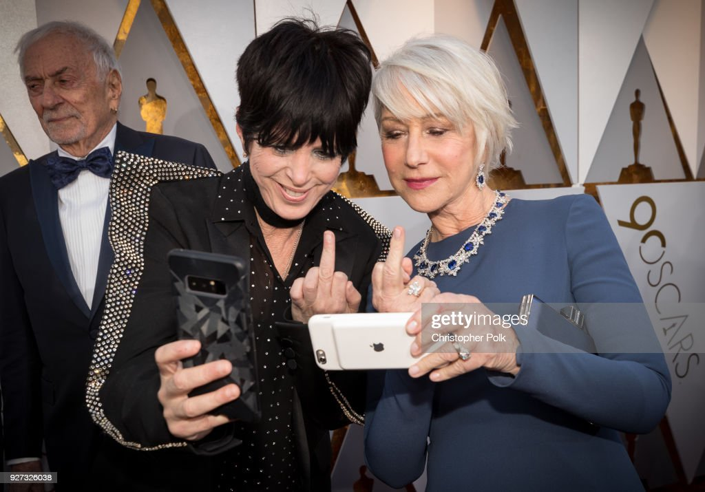 Diane Warren (L) and Helen Mirren attend the 90th Annual Academy Awards at Hollywood & Highland Center on March 4, 2018 in Hollywood, California.