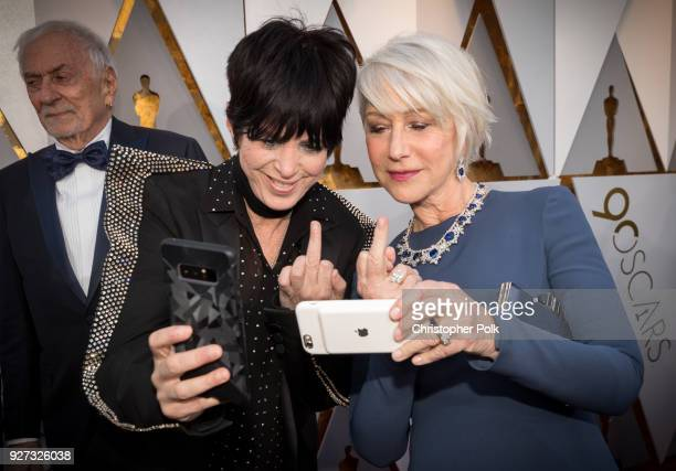Diane Warren and Helen Mirren attend the 90th Annual Academy Awards at Hollywood Highland Center on March 4 2018 in Hollywood California