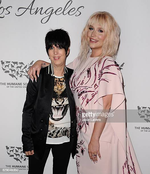 Diane Warren and Kesha attend The Humane Society of The United States' To The Rescue gala at Paramount Studios on May 07 2016 in Hollywood California