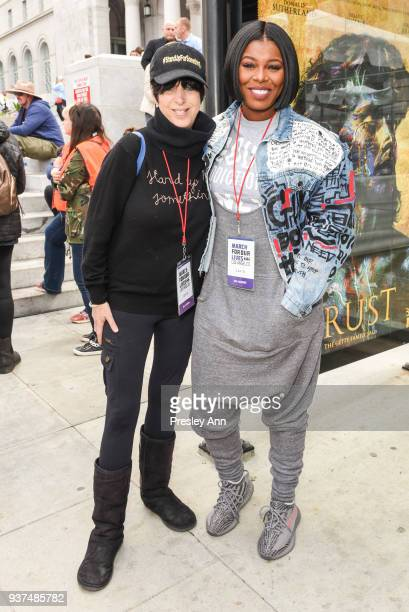Diane Warren and Ta'Rhonda Jones attend March For Our Lives Los Angeles on March 24 2018 in Los Angeles California