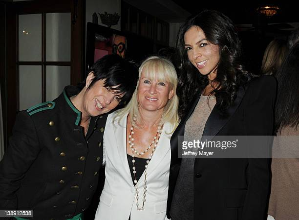 Diane Warren Caroline Grainge and Terri Seymour attends the Universal Music Group 54th Grammy Awards Viewing Reception hosted by Lucian Grainge at...