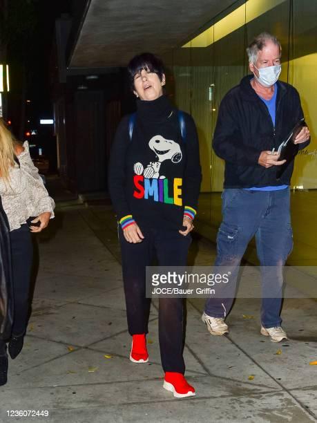 Diane Warren is seen on October 22, 2021 in Los Angeles, California.