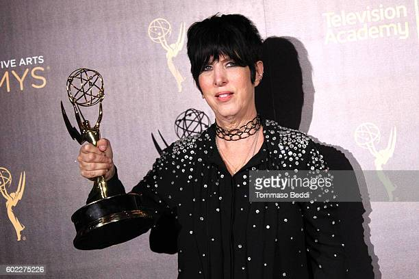 Diane Warren poses in the press room at the 2016 Creative Arts Emmy Awards held at Microsoft Theater on September 10 2016 in Los Angeles California