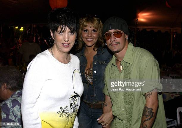 Diane Warren Sarah Martin AJ McLean during The Gabriel Foundation Presents Parrots In Paradise at The Playboy Mansion in Westwood California United...