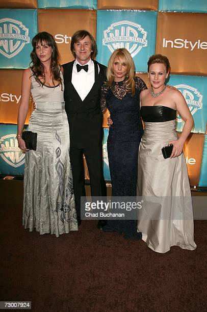 Diane Weber wife of actor Jake Weber actress Rosanna Arquette and Patricia Arquette arrive at the In Style Magazine and Warner Bros Studios Golden...