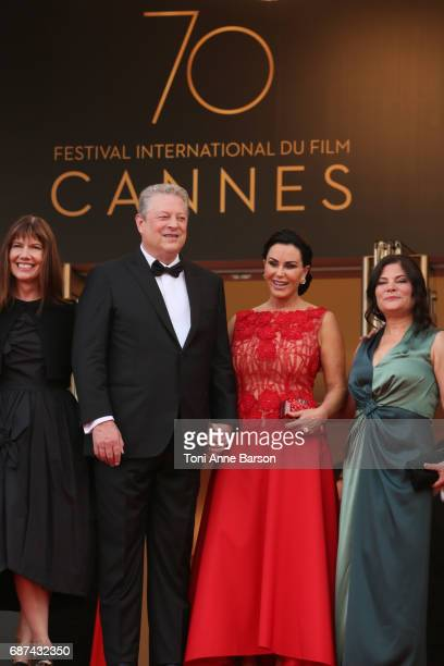 Diane Weyermann Al Gore Elizabeth Keadle and Bonni Cohen attend the The Killing Of A Sacred Deer screening during the 70th annual Cannes Film...