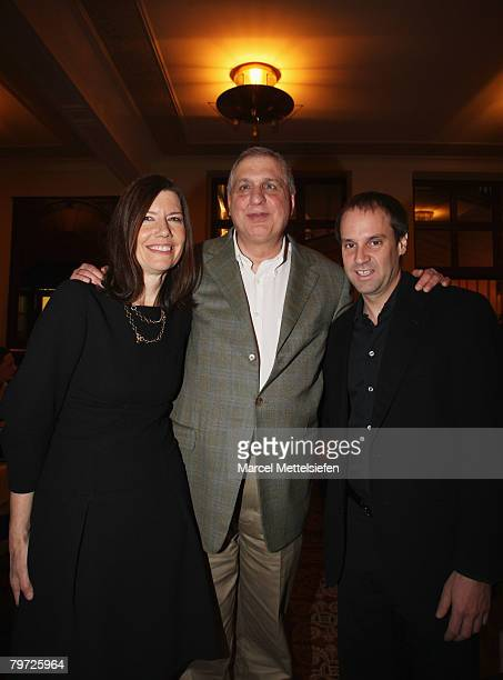 Diane Weyermann executive producer Errol Morris director and Jeff Skoll executive producer attends the Standard Operating Procedure Dinner as part of...