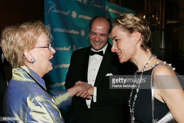 Diane Whitty Victor Luis and AnneClaire Taittinger attend Baccarat Presents the 2nd Annual UNICEF SNOWFLAKE BALL at WaldorfAstoria Hotel on November...
