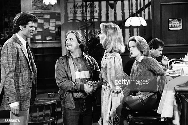 CHEERS Diane's Perfect Date Episode 17 Air Date Pictured Ted Danson as Sam Malone Derek McGrath as Andy Schroeder Shelley Long as Diane Chambers...