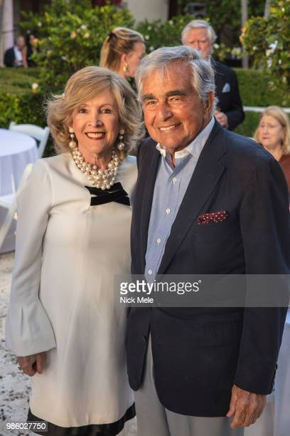 Diann Scaravilli and Leonard Lauren attend Sharon Bush Hosts Benefit Dinner for Cristo Rey Brooklyn High School at Private Estate on March 29 2018 in...