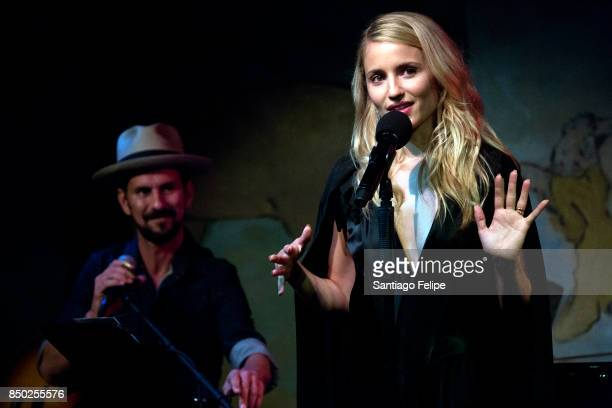 Dianna Agron and Gill Landry perform onstage during her Broadway Debut Cafe Carlyle on September 19, 2017 in New York City.