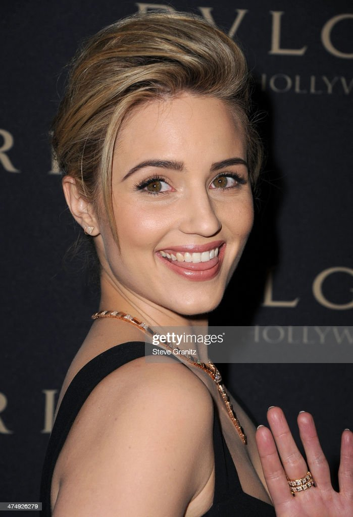 Dianna Agron arrives at the BVLGARI 'Decades Of Glamour' Oscar Party Hosted By Naomi Watts at Soho House on February 25, 2014 in West Hollywood, California.