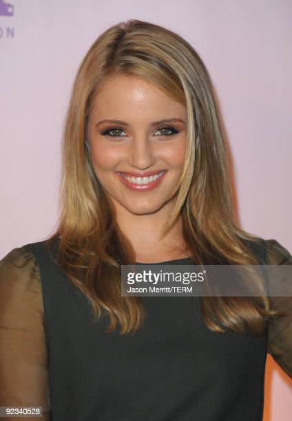 Dianna Agron arrives to the 20th Anniversary 2009 EMA Awards held on the backlot at Paramount Studios on October 25 2009 in Los Angeles California
