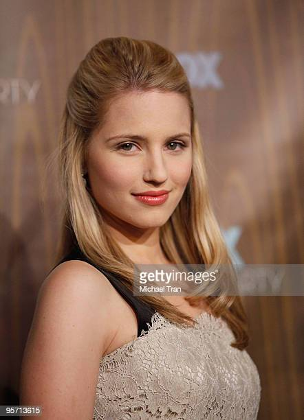 Dianna Agron arrives to the FOX 2010 AllStar Party held at Villa Sorisso on January 11 2010 in Pasadena California