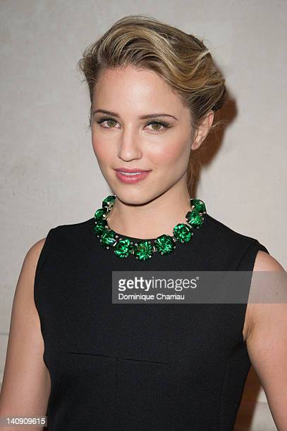 Dianna Agron attends 'Louis Vuitton Marc Jacobs The Exhibition' Photocall as part of Paris Fashion Week on March 7 2012 in Paris France