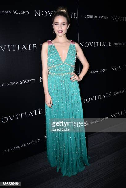 """Dianna Agron attends Miu Miu & The Cinema Society host a screening of Sony Pictures Classics' """"Novitiate"""" at The Landmark at 57 West on October 26,..."""