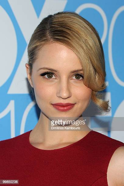 Dianna Agron attends the 2010 FOX Upfront after party at Wollman Rink Central Park on May 17 2010 in New York City