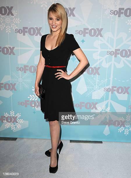 Dianna Agron attends the 2011 Fox AllStar Party at Villa Sorriso on January 11 2011 in Pasadena California
