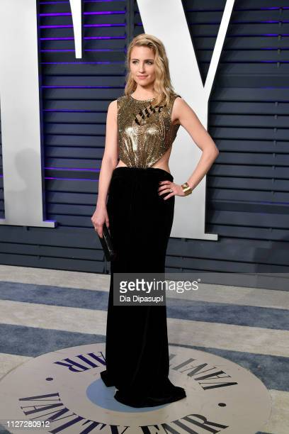 Dianna Agron attends the 2019 Vanity Fair Oscar Party hosted by Radhika Jones at Wallis Annenberg Center for the Performing Arts on February 24 2019...