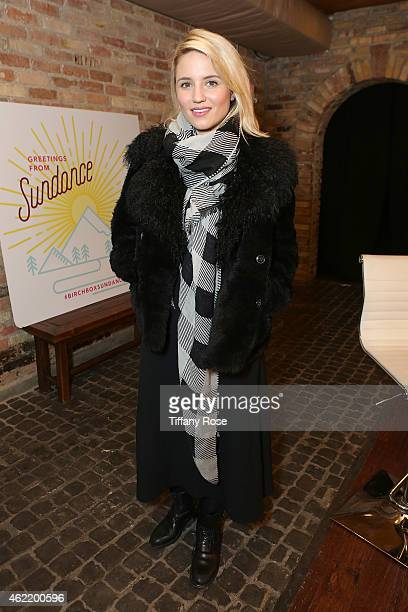 Dianna Agron attends the Birchbox Popup at Park City on January 25 2015 in Park City Utah