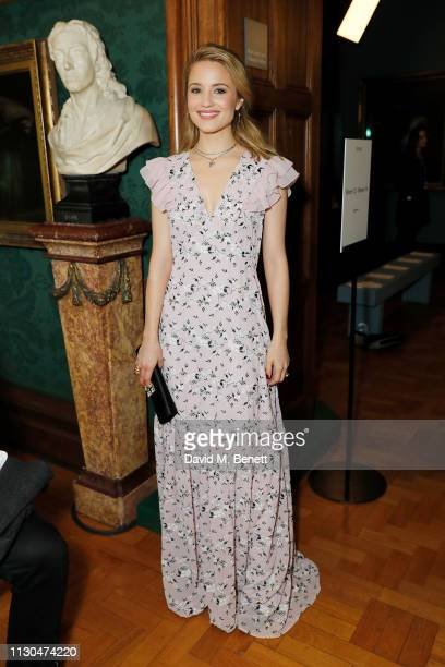 Dianna Agron attends the Erdem show during London Fashion Week February 2019 at National Portrait Gallery on February 18, 2019 in London, England.