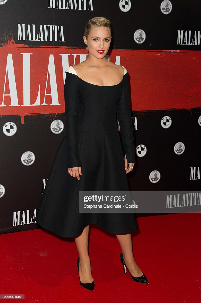 Dianna Agron attends the 'Malavita' premiere at Europacorp Cinemas at Aeroville Shopping Center, in Roissy-en-France, France.