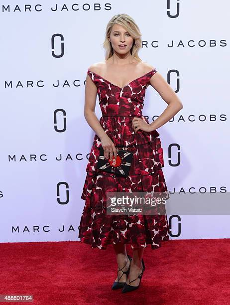 Dianna Agron attends the Marc Jacobs Spring 2016 fashion show during New York Fashion Week at Ziegfeld Theater on September 17 2015 in New York City