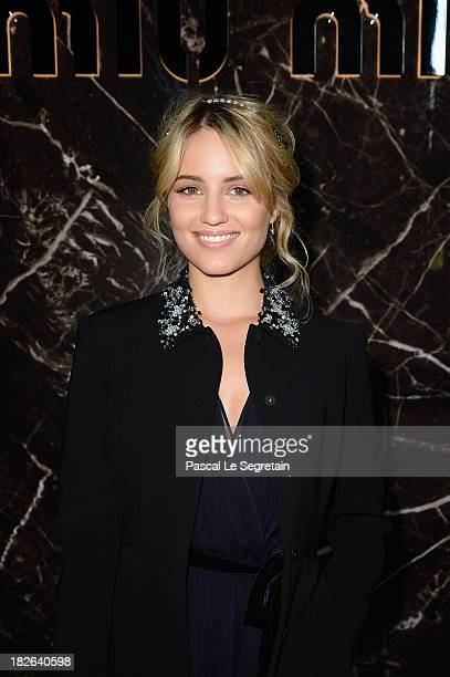 Dianna Agron attends the Miu Miu show as part of the Paris Fashion Week Womenswear Spring/Summer 2014 at Palais d'Iena on October 2 2013 in Paris...