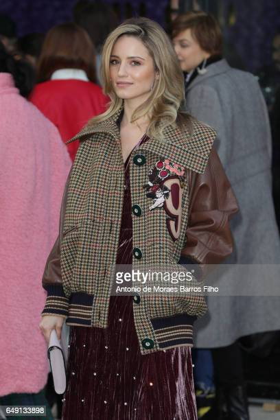Dianna Agron attends the Miu Miu show as part of the Paris Fashion Week Womenswear Fall/Winter 2017/2018 on March 7, 2017 in Paris, France.