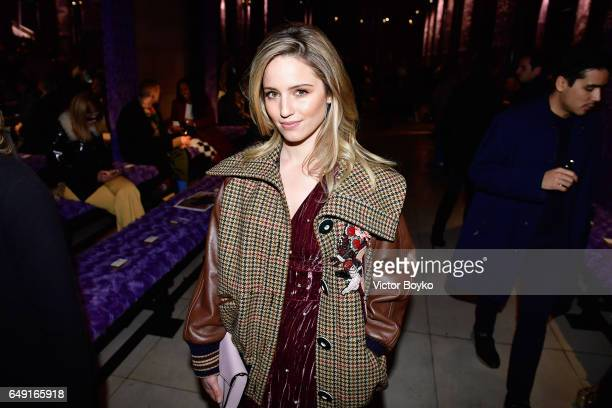 Dianna Agron attends the Miu Miu show as part of the Paris Fashion Week Womenswear Fall/Winter 2017/2018 on March 7 2017 in Paris France