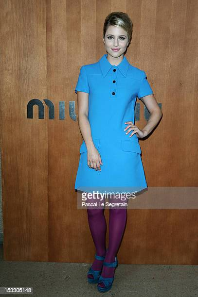 Dianna Agron attends the Miu Miu Spring/Summer 2013 show as part of Paris Fashion Week on October 3 2012 in Paris France