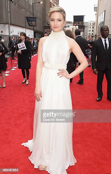 Dianna Agron attends The Olivier Awards at The Royal Opera House on April 12 2015 in London England