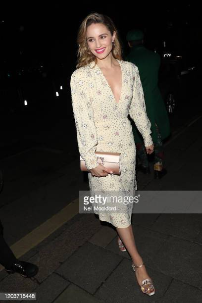 Dianna Agron attends the Vogue x Tiffany Fashion Film after party for the EE British Academy Film Awards 2020 at Annabel's on February 02 2020 in...