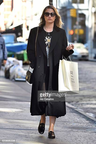 Dianna Agron is seen in Soho on April 12, 2016 in New York City.