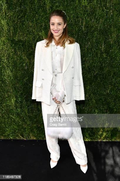 Dianna Agron, wearing Chanel, attends Through Her Lens: The Tribeca CHANEL Women's Filmmaker Program Luncheon at Locanda Verde on November 04, 2019...