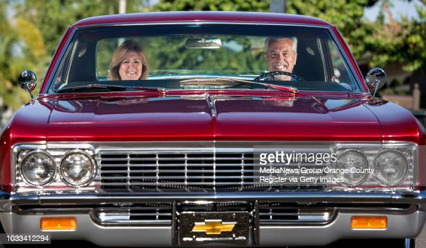 Dianna and Ron Anast of Lake Forest inside their 1966 Chevrolet Impala Super Sport ///ADDITIONAL INFORMATION WHEELSClassicImpala0424 Ð 4/20/15 Ð...
