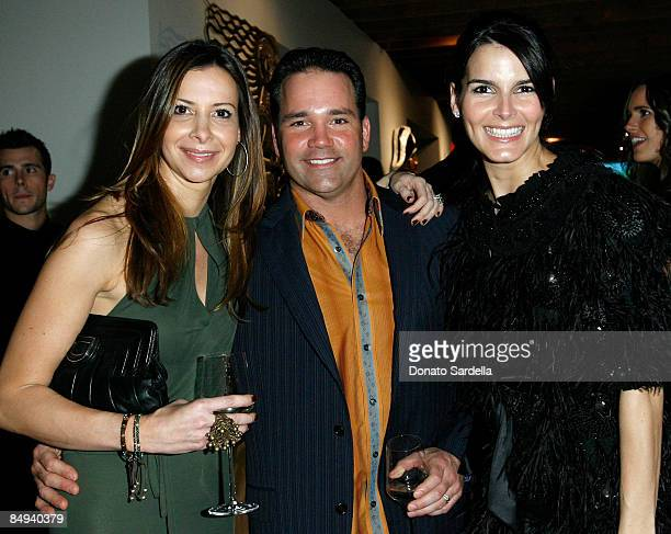 Dianne Abra and actress Angie Harmon attend the Dior and Vanity Fair launch of BRANDAID Foundation held at Environment on February 19 2009 in West...