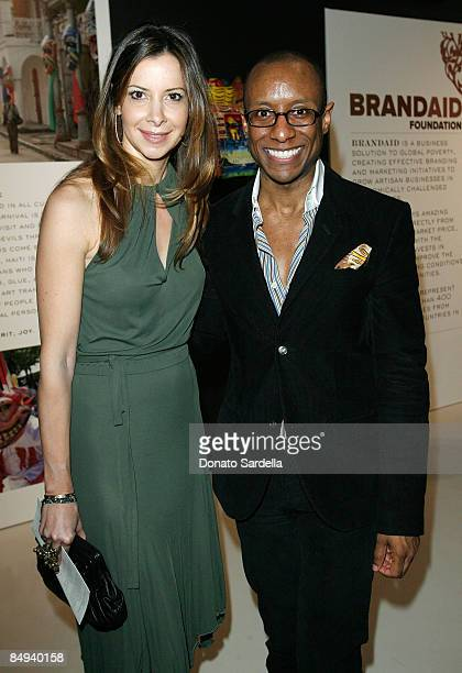 Dianne Abra and Terrence Charles attend the Dior and Vanity Fair launch of BRANDAID Foundation held at Environment on February 19 2009 in West...