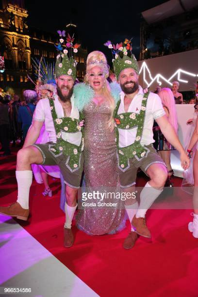 Dianne Brill during the Life Ball 2018 at City Hall on June 2 2018 in Vienna Austria The Life Ball an annual charity event raising funds for HIV AIDS...
