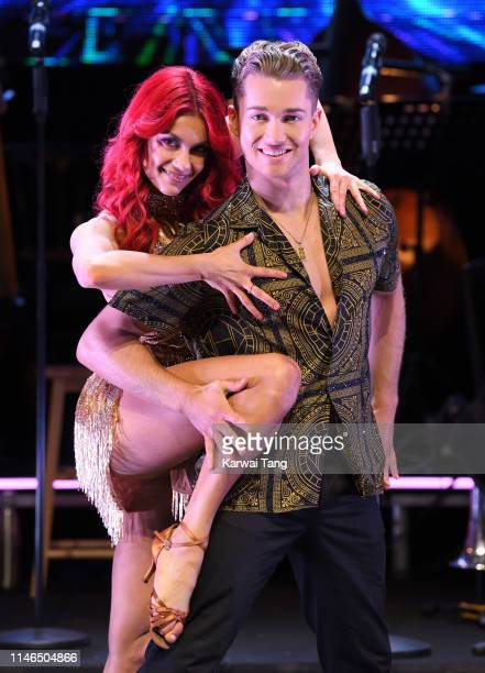 Dianne Buswell and AJ Pritchard attend the Strictly Come Dancing The Professionals photocall at Elstree Studios on May 02 2019 in Borehamwood England