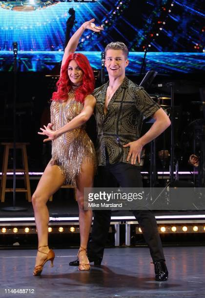 Dianne Buswell and AJ Pritchard during the Strictly Come Dancing The Professionals photocall at Elstree Studios on May 02 2019 in Borehamwood England