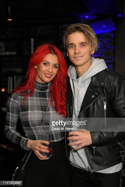 Dianne Buswell and Joe Sugg attend the launch of KSI's new album 'New Age' at Century Club on April 08 2019 in London England