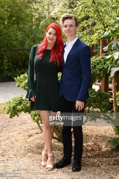 Dianne Buswell and Joe Sugg attend the RHS Chelsea Flower Show 2019 press day at Chelsea Flower Show on May 20 2019 in London England