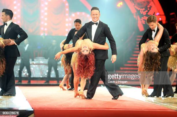Dianne Buswell and Kevin Clifton attend the 'Strictly Come Dancing' Live photocall at Arena Birmingham on January 18 2018 in Birmingham England Ahead...
